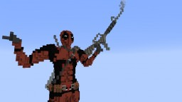 Deadpool in minecraft (statue) Minecraft