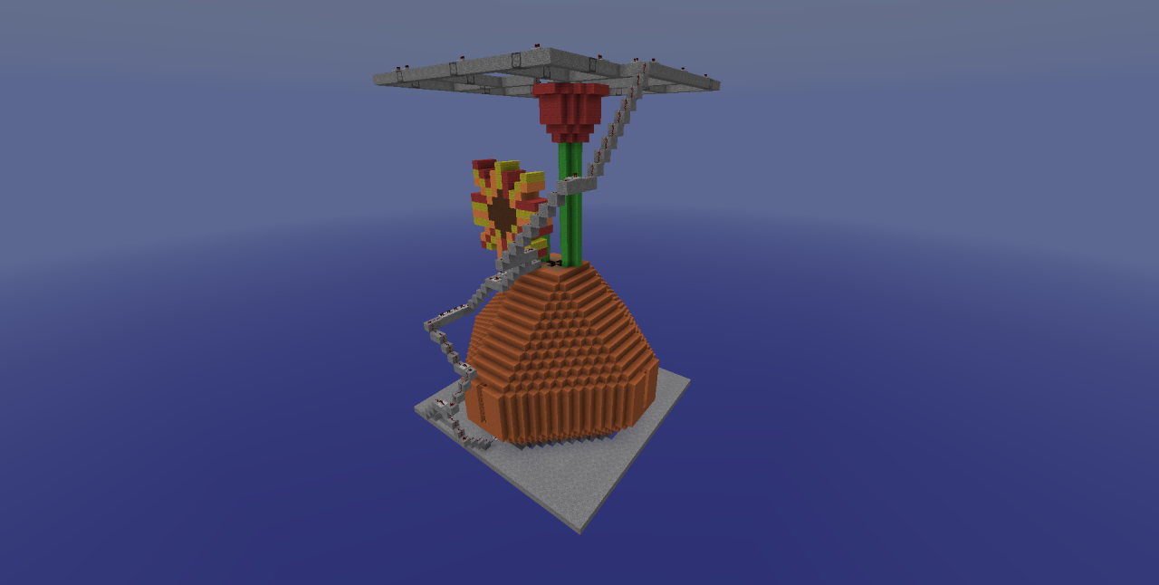 how to make flower pot on minecraft