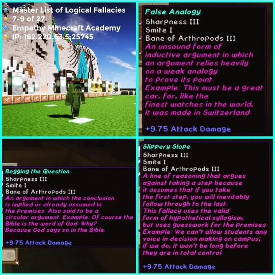 The Master List Of Logical Fallacies Minecraft Project