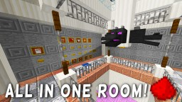 MOST COMPACT REDSTONE HOUSE (20+ Redstone Creations In One Room!!) - Minecraft Redstone Maps Minecraft Blog Post