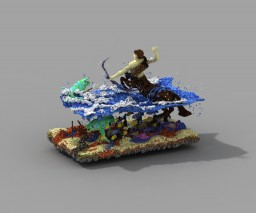 Centauro Pescando. Minecraft Project