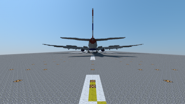 British Airways 777-300ER touchdown - back view
