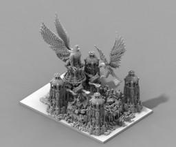"Reino de Esteparia. Decorado en ""Vanaheim"". Minecraft Project"