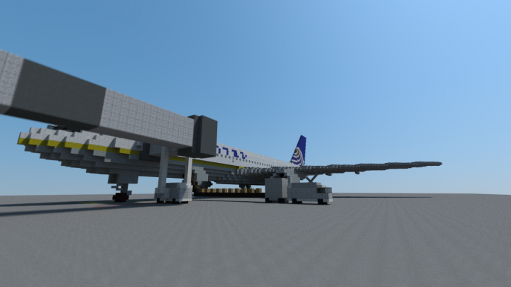 United 777-200ER at gate