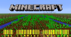 Foraging One Command Creation Minecraft Map & Project