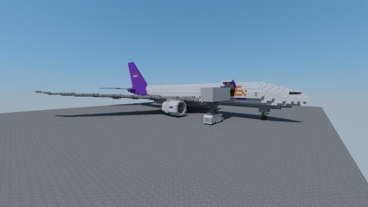 Fedex 777F Loading Cargo