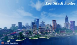 Los Block Santos Minecraft LBS City District Built On PS3 Converted To P.C With Shaders Minecraft