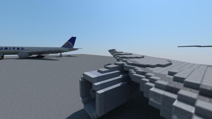Engine view 1 - Swept wingtip