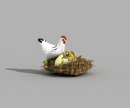 Pollos. Minecraft