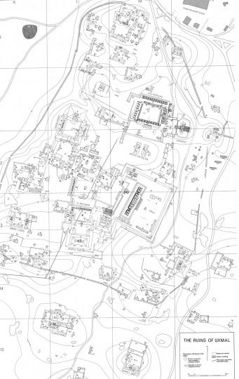 Map of Uxmal