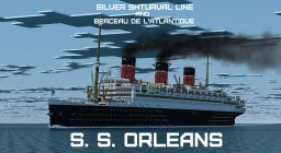 French ocean liner-SS Orleans Minecraft
