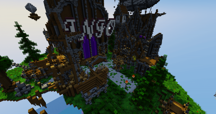 SkyBlock Spawn | Steam Punk Style Minecraft Project