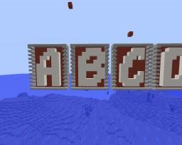 Letters 8x10 Fancy Font Minecraft Map & Project