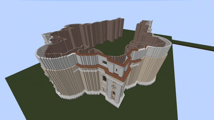 NEW version. Currently working on the general shape of the Basilicas facade.