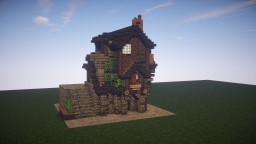 Simple Medieval Home + Interior Minecraft Project