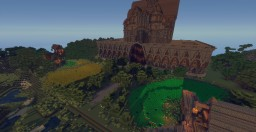 Huge Castle and village Spawn for Server! Minecraft Project
