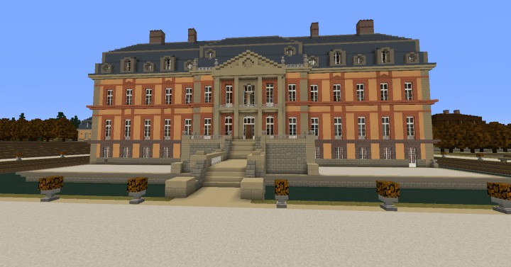 French chateau de dampierre minecraft project - Chateau de minecraft ...