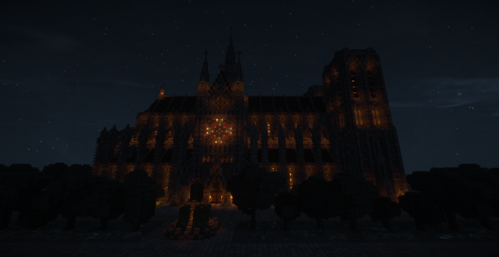 Cathedral side, night