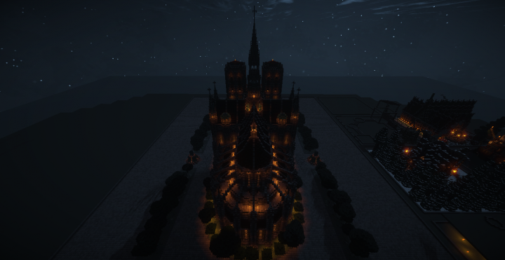 Cathedral back, night