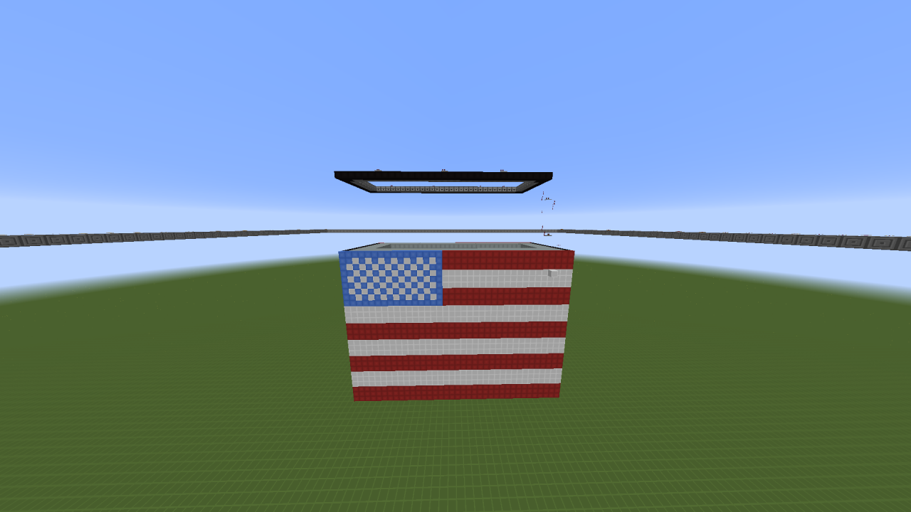 Burning flag for pat and jen minecraft project