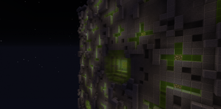 Anedisite, stone, green and lime glass, glowstone.