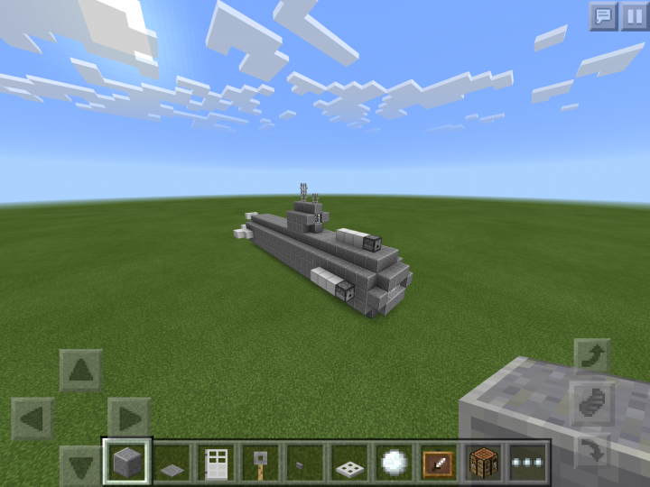 how to make a submarine in minecraft pe