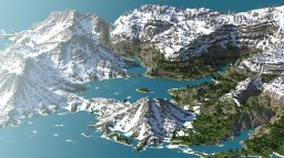 A Vibrant Snowy Bay Minecraft Map & Project