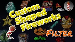 Custom Shaped Fireworks (PixelFireworks MCEdit Filter) Minecraft Mod