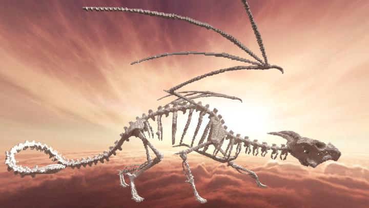 Dragon Skeleton by Ichi Minecraft Project