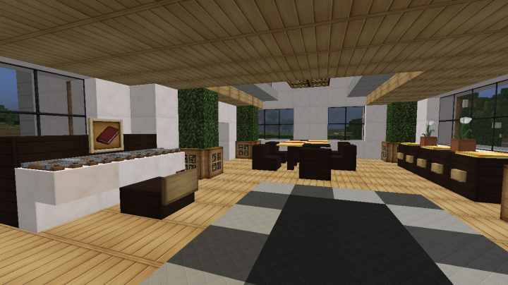 Maison n 2 minecraft project for Salle a manger minecraft
