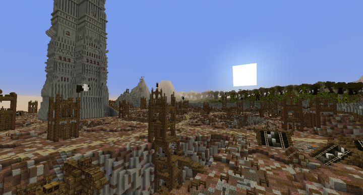 how to build isengard in minecraft