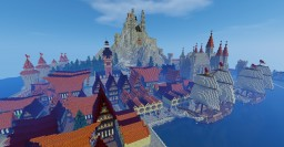 A castle in a rock Minecraft Map & Project
