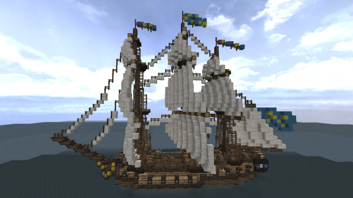 New rig, with taller masts, much more beautiful sails and overall better rigging!
