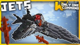Fighter Jets with only one command block Minecraft Project
