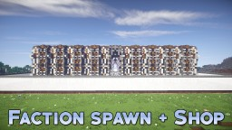 Quarts/Spruce Faction Spawn + Shop Minecraft Project