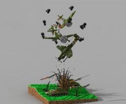 Junkers Ju 87 - A War Scene Minecraft Map & Project