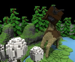 A Surreal Piece Minecraft Map & Project