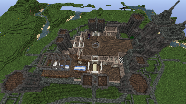 Started with walls and supports for first and second floor, finished gatehouse.