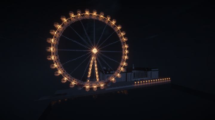 London Eye with Shaders at Night