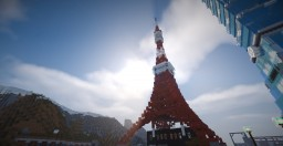 Tokyo Tower (東京タワー) - replica - 1/3 scale Minecraft