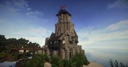 Medieval Castle small  on little island Minecraft