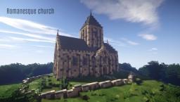 Romanesque church Minecraft Map & Project