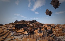 Niima Outpost on Jakku and the Millennium Falcon | Star Wars: The Force Awakens #WeAreConquest Minecraft Map & Project