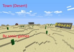 Town (Desert) Minecraft Map & Project