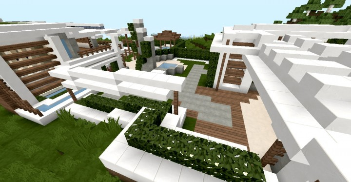 Modern Japanese House Minecraft 1
