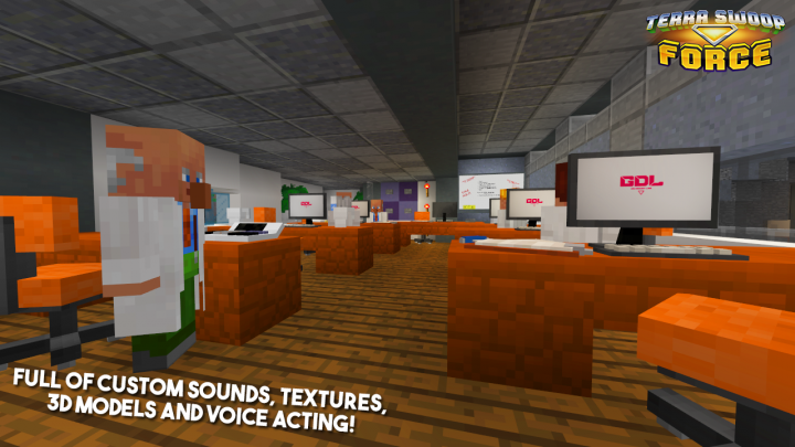 Full of custom sounds, textures, 3D models and voice acting!