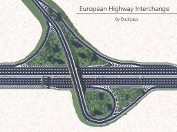European - Highway Interchange Minecraft Map & Project