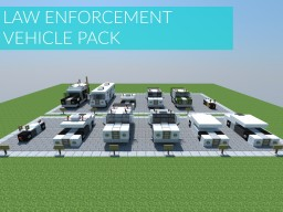 Law Enforcement Vehicle Pack // 18 police vehicles! Minecraft Project