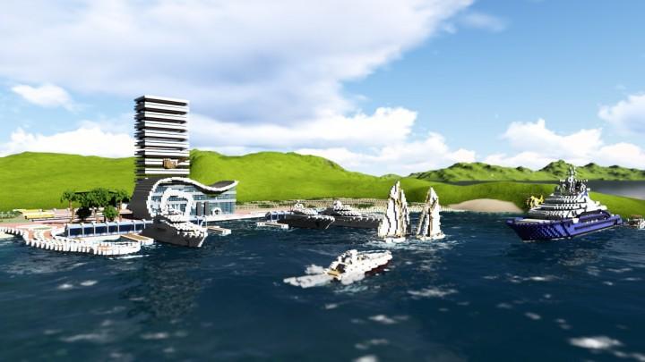 Modern marina