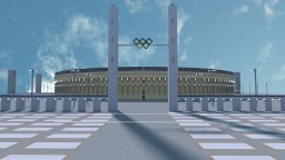 Ultra realistic Olympiastadion Berlin project ( 3:1 scale - 1,500,000 + blocks ) Minecraft Map & Project